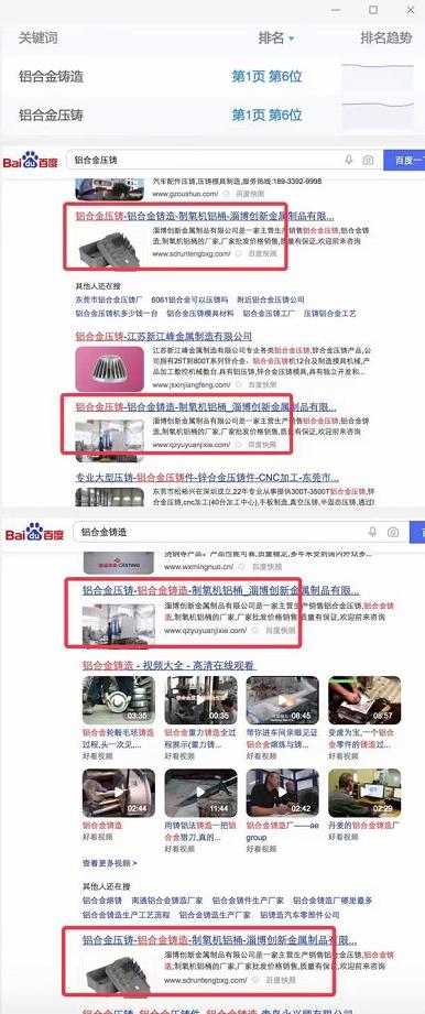 铝合金铸造-铝合金压铸同一客户2个网站seo主词首页